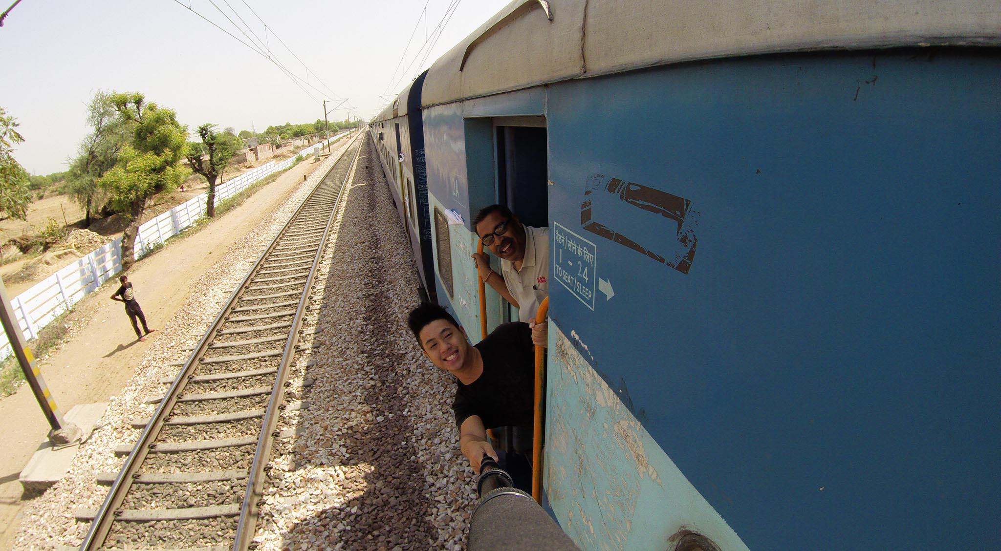 I met Mr Tilak in my 6 hours train ride. Got invaluable knowledge on how to survive in India, especially when alone.